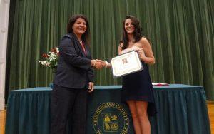 Awarding of the first Peter Francisco Memorial Scholarship