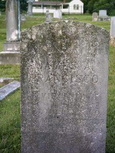 James Anderson Francisco Headstone