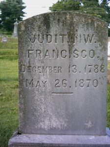 Judith Woodson Michaux Francisco Headstone